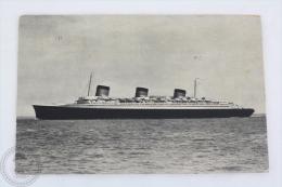 Old 1939 Postcard - Transatlantique - French Line, S/S Normandie - Ligne  Le Havre - Angleterre - New York  - Posted - Ships