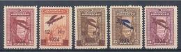 TURCHIA TURKEY - 1934 AIR POST OVERPRINT A1/A5  MNH - 1921-... Republic