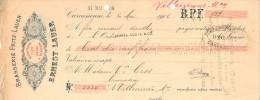 Lettre Change 10/5/1906 Brasserie Fritz Lauer ERNEST LAUER Bières CARCASSONNE Aude Pour Villeneuve Minervois - Wechsel
