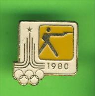 PIN´S, MACARONS, BADGES - JEU OLYMPIQUE 1980 TIR - - Olympic Games