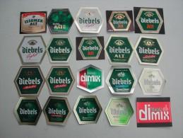 40 Beerlabels Brauerei Diebels (Inbev) / Issum - Bier