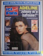 JOHNNY HALLYDAY ADELINE COLLECTIONNEZ LES AFFICHES PRESSE PUBLICITE ICI PARIS 57X75cm LAHAIE 16/02/1993 N°2484 - Affiches