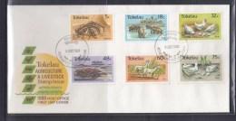 Tokelau 1986 Agriculture & Livestock, Crab, Rooster,Pig Etc FDC