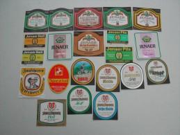"42 Beerlabels From German Brauereien Stadt ""J"" - Bière"