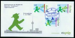 PIN Mail Berlin Mi 161 - 163 Ersttagsbrief 2 (3 Mkn) Ampelm�nnchen pm028