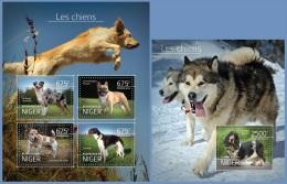nig14514ab Niger 2014 Dogs 2 s/s