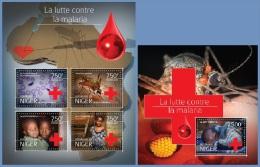 nig14519ab Niger 2014 Malaria 2 s/s Rad Cross