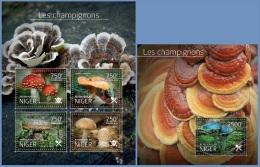 nig14521ab Niger 2014 Mushrooms 2 s/s