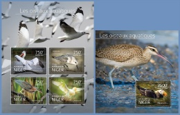 nig14524ab Niger 2014 Water birds 2 s/s