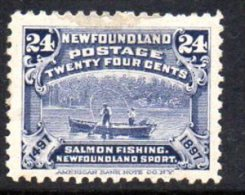 Newfoundland Canada 1897 400th Anniversary Of Discovery 24c Value, Hinged Mint - Newfoundland