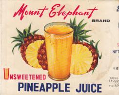 Pineapple Juice - Mount Elephant - China - Fruits & Vegetables