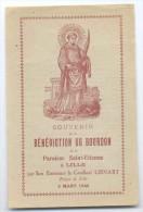 Carte Sur La Bénédiction Du Bourdon De La Paroisse St Etienne De Lille Cloche Scan Recto/ Verso - Santini