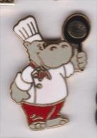Beau Pin´s En EGF , Hippopotame , Hippopotamus , Cuisinier - Animali