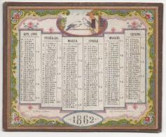 """0935  """"CALENDARIO PER L�ANNO 1867 IMPRESSO IN CROMOLITOGRAFIA SU DUE FACCIATE"""""""
