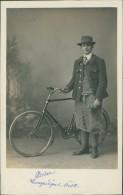 CYCLISME / Carte Glacée - Homme En Costume Avec Belle Bicyclette / Compiègne Oise Breton - Cyclisme