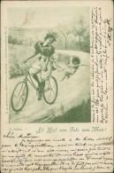"""CYCLISME / VELO - """"All Heil Vom Fels Zum Meer"""" - Femme Sur Une Bicyclette Avec Un Petit  Ange Lui Tirant Les Habits - Cyclisme"""