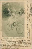 """CYCLISME / VELO - """"All Heil Vom Fels Zum Meer"""" - Femme Sur Une Bicyclette Dans Un Jardin - Cyclisme"""