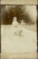 CYCLISME / VELO - PHOTO Collée Sur CPA D'un Enfant Sur Un Très Beau Tricycle! (au Dos : LANGEAIS) - Cyclisme
