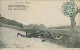 CYCLISME / VELO / 2.Quarante à L'heure, Le Chemin Me Paraît étroit...Homme Tombé De Sa Bicyclette Dans La Campagne - Cyclisme