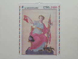 Calendrier :Bicentenaire De La Révolution  1789-1989 Grand Format - Autres