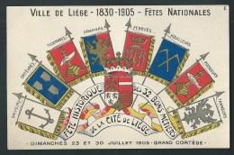 Ville De Liège. 1830-1905. Fêtes Nationales Historique. Les 32 Bons Métiers. Orfèvres, Tisserands, Houilleurs... N°1. - Luik
