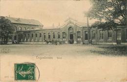 Belgique - Hainaut - Erquelinnes - Gare - Chemins De Fer - Gares - Attelage De Chevaux - 2 Scans - Attention Voir état - Erquelinnes
