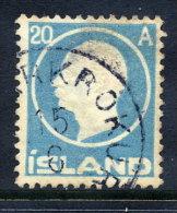 ICELAND 1912 Frederik VIII 20a. Used.   Michel 71 - Oblitérés