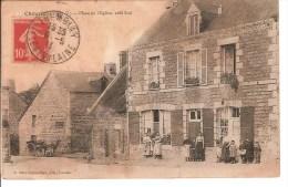 CHAUVIGNE (35) PLACE DE L'EGLISE - CARTE POSTALE ANCIENNE - France