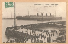 "LE HAVRE -- La ""FRANCE"" Sortant Du Port -- 1er Voyage 28 Avril 1912 -- NAVIRE - PAQUEBOT - BATEAU - PORT - Le Havre"