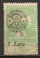 Timbres - Roumanie - Transylvanie - 1919 - 1 Leu - - Transylvania