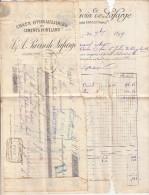 ARDÈCHE. VIVIERS. 1899. CIMENT CHAUX HYDRAULIQUE J&A PAVIN DE LAFARGE. FACTURE + MANDAT / 5901 - Frankreich