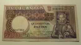 1973 - Angola - 500 ESCUDOS, 10 De Junho De 1973, BO47982 - Angola