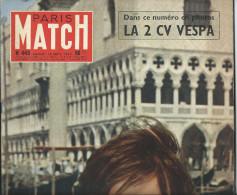 Paris Match , 09/1957 , LA 2 CV VESPA , L'Hotesse de Venise , port france 3.95e
