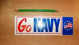 Vintage 70's Go Navy Sticker Decal - Autocollants
