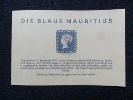"""Mauricio Blokc 1986      """"DIE BLAUE MAURITIUS"""" - Mauritius (1968-...)"""