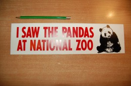 Vintage 70's I Saw The Panda At National Zoo Sticker Decal - Autocollants