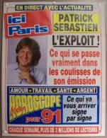 COLLECTIONNEZ LES AFFICHES PRESSE PUBLICITE ICI PARIS 57X75cm PATRICK SEBASTIEN L�EXPLOIT HOROSCOPE POUR 1991...