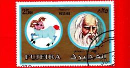EMIRATI ARABI - FUJEIRA - Nuovo Oblit. - 1972 - Zodiaco E Uomini Famosi - Ariete - Leonardo Da Vinci - 25 - Fujeira