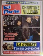 COLLECTIONNEZ LES AFFICHES PRESSE PUBLICITE ICI PARIS 57X75cm CHRISTINE GREGORY VILLEMIN SILENCE DU JUGE MARTIN GUERRE