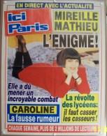COLLECTIONNEZ LES AFFICHES PRESSE PUBLICITE ICI PARIS 57X75cm MIREILLE MATHIEU, REVOLTE DES LYCEENS CASSER LES CASSEURS