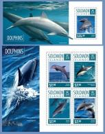 slm14605ab Solomon Is. 2014 Dolphins 2 s/s