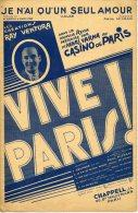 CAF CONC PARTITION***RAY VENTURA JE N´AI QU´UN SEUL AMOUR REVUE VIVE PARIS CASINO MISRAKI 1933 ORIGINAL SUPER - Musica & Strumenti