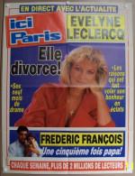COLLECTIONNEZ LES AFFICHES PRESSE PUBLICITE ICI PARIS 57X75cm EVELYNE LECLERCQ FREDERIC FRANCOIS