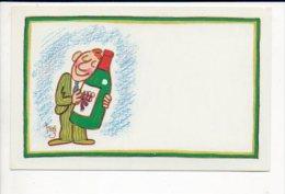 """Carte De Visite Publicitaire Vierge """"Viticulteur,Négociant En Vin"""" / Illustrateur Ou Dessin De """"Alain Trez """" Né à Berck - Cartes De Visite"""
