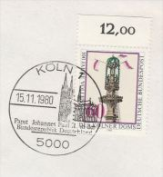 1980 COVER  POPE JOHN PAUL II EVENT Pmk KOLN Germany  Stamps Religion Christianity Cathedral Church - Popes