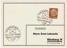 Allemagne / Journée Du Timbre 1937 /  Hannover / Hanovre - Lettres & Documents