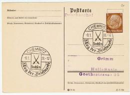 Allemagne / Journée Du Timbre 1938 /  Chemnitz - Lettres & Documents