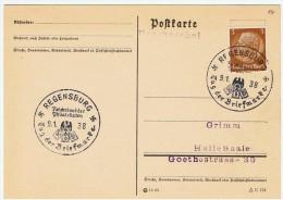 Allemagne / Journée Du Timbre 1938 /  Regensburg - Lettres & Documents