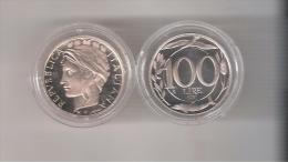 C) ITALIA LIRE 100 DEL 1997 PROOF  FONDO SPECCHIO PROVENIETE DALLA SERIE DIVISIONALE - 1946-… : Republic