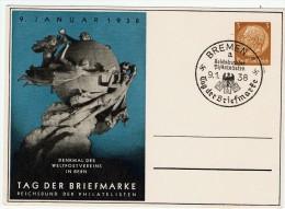 Allemagne / Journée Du Timbre 1938 /  Brême / Bremen - Lettres & Documents